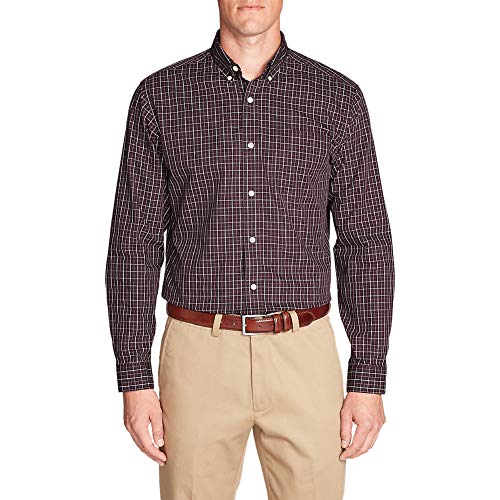 (Eddie Bauer Men's Wrinkle-Free Pinpoint Oxford Classic Fit Long-Sleeve Shirt - S)