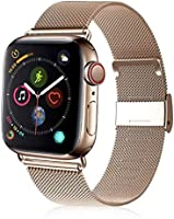 VATI Compatible with Apple Watch Band 38mm 40mm, Stainless Steel Mesh Loop Sport Wristband with Adjustable Magnetic...