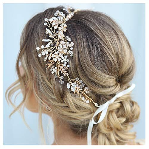 SWEETV Rhinestone Headpiece Accessories Bridesmaid product image