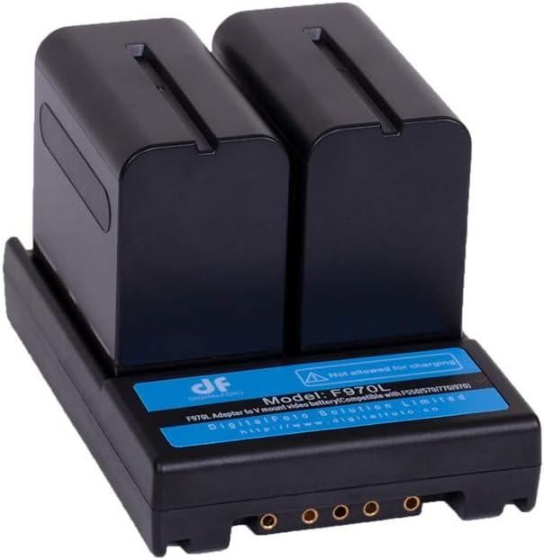 DF DIGITALFOTO Camera Battery Adapter Converter to V Mount Battery Lock Plate for F550 F570 F770 F970 Series Battery