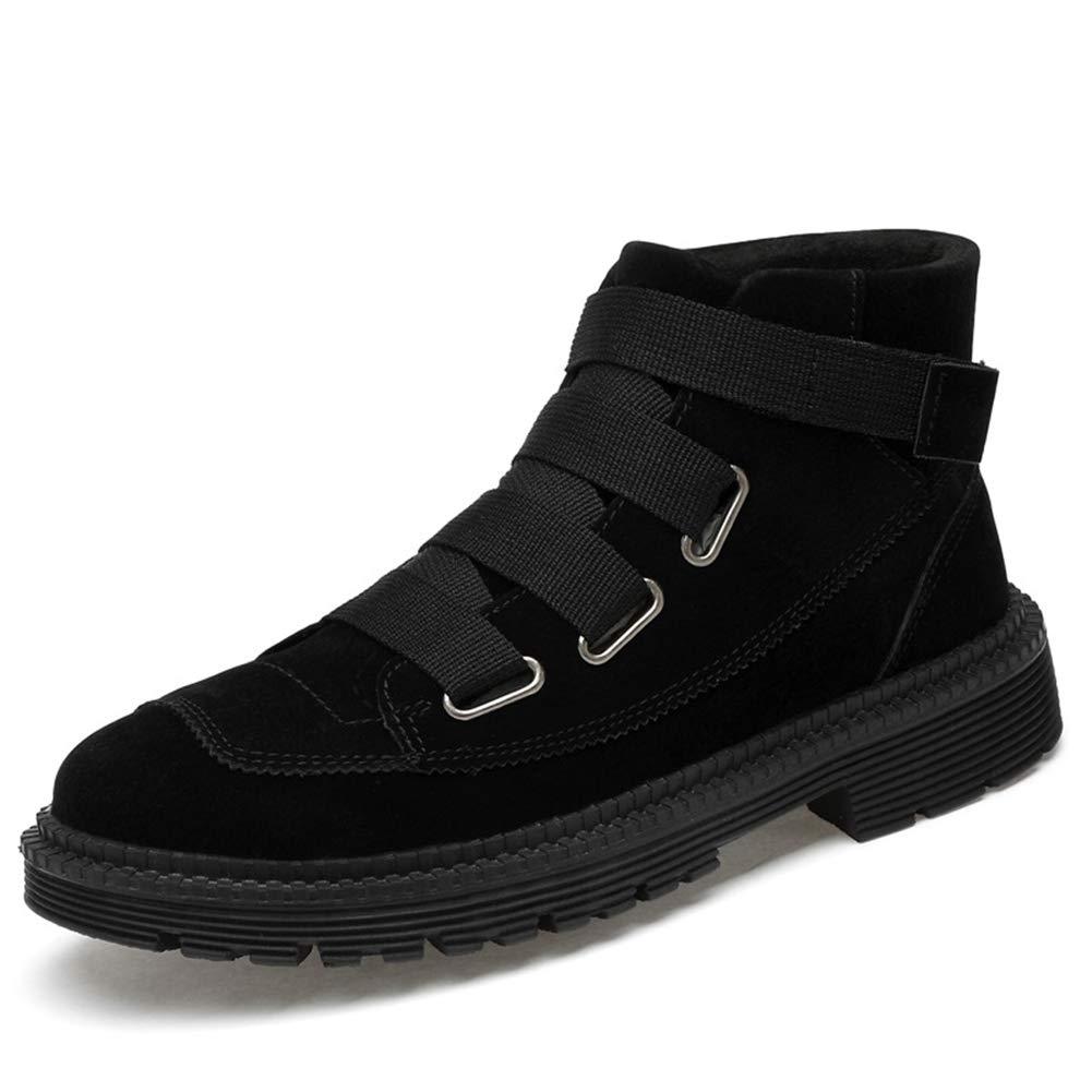 Herrenstiefel, Herbst Herbst Herbst Winter Martin Stiefel High-Top Lederschuhe Wild Casual Stiefel Trend Tooling Stiefel Plus Samt Wanderschuhe XUE (Farbe   B, Größe   44) bce5dd