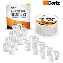 Anti Snoring Solutions by Dortz® – Set of 8 Stop Snoring Nose Vents – Snoring Solution Anti Snore Device – Upgraded Set of Nasal Dilators with Travel Case - Comfortable Snore Stop Solution for Your