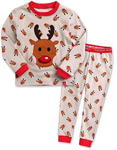 Vaenait baby 12M-7T Kids Boys Sleepwear Pajama 2pcs Set Cookie Rudolph S (Cookie Rudolph)