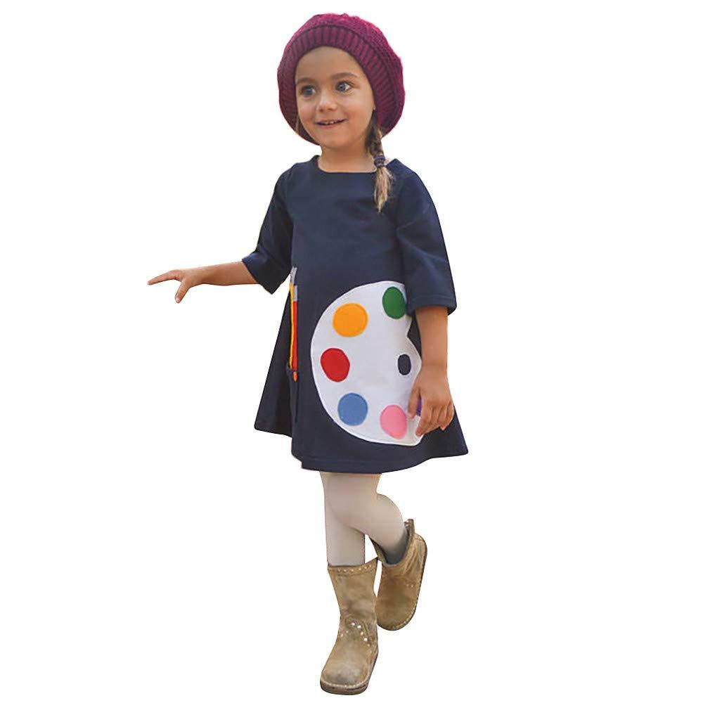 Culater Natale Bambini Neonate Cartone Animato Stampa Anatra Abito Principessa Inverno Spessa Pigiama Outfit Set Capispalla Abbigliamento MK-1203
