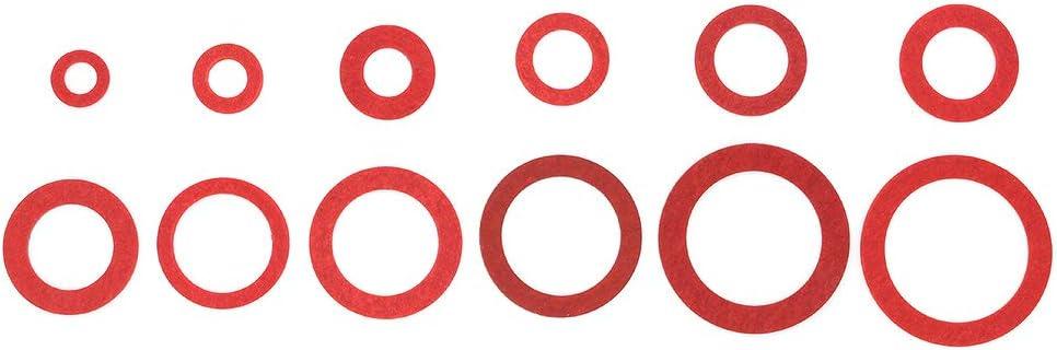 M8 Rosso Fibra Rondelle-Scegliere tra 5 Taglie varie quantità disponibili