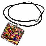 3dRose Danita Delimont - Mexico - Mexico, Cozumel, Woven fans, Mexican souvenir - SA13 LEN0048 - Lisa S. Engelbrecht - Necklace With Rectangle Pendant (ncl_141562_1)
