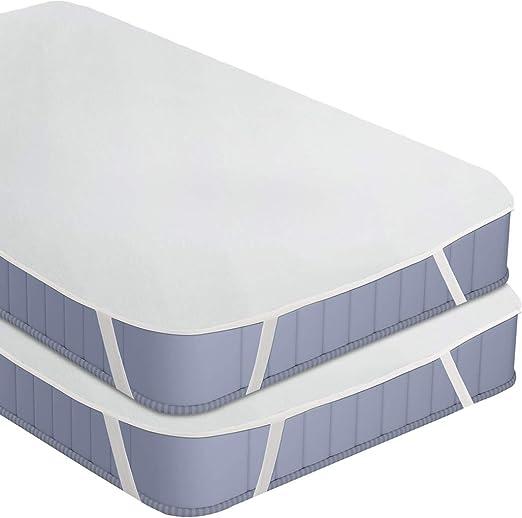 Utopia Bedding Protector de Colchón Impermeable con 4 Bandas ...