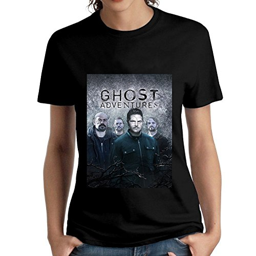 SIXFINE Womens Ghost six Adven to The tures 2 Short Sleeve Shirt Tees Black (Female Ghost)