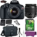 Canon EOS Rebel T5 DSLR Camera with Canon EF-S 18-55mm IS Lens. + 32GB SD Memory Card + Canon Bag + Cleaning Kit