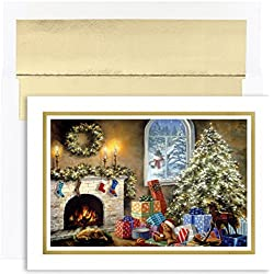 Not a Creature Stirring Boxed Holiday Cards - 18 Cards and Envelopes