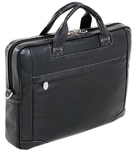 McKleinUSA BRONZEVILLE 15485 Black Leather Medium Laptop Brief by McKleinUSA
