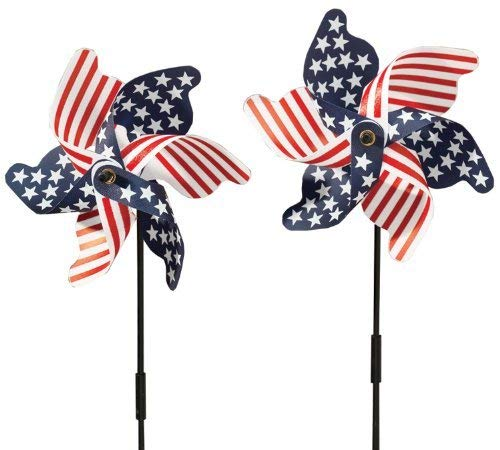 Miles Kimball Patriotic Pinwheel - Set Of 2