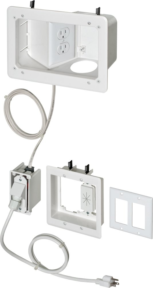 Angled box in wall wiring kit pre wired tv bridge 2 gang - Slanted wall tv mount ...