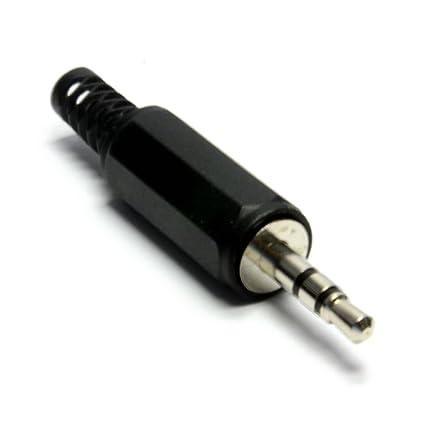 3,5 mm Masculino Clavija Estéreo Audio Soldar Terminal Conexión