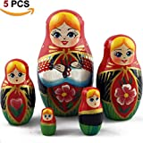 MATRYOSHKA&HANDICRAFT Matrioskas Dolls Belarusian National Theme Set 5 pcs