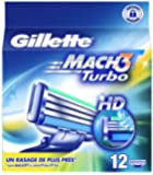 Gillette Lames Mach 3 Turbo Testé Dermatologiquement x 12