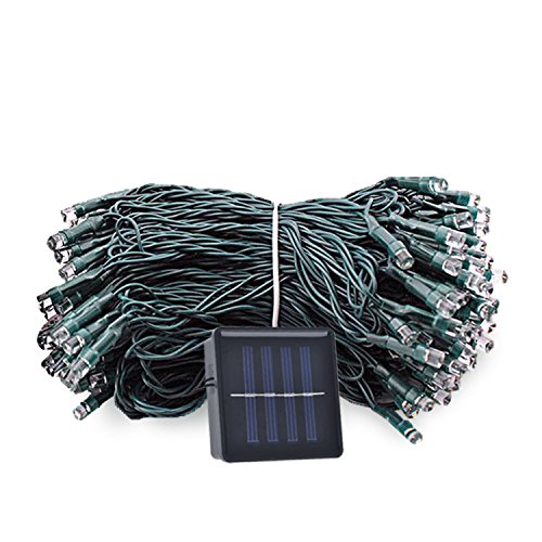 mtsugar LED String Light of Portable Solar Powered.Best Ideal for Christmas Easter Halloween Party Wedding Garden Store christmas tree ( 1.2V Waterproofed grade Ip65 and 8 flash modes) (Blue)