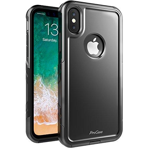 摘む浸漬病気だと思うProCase Apple iPhone XS/iPhone X ケース スリム ハイブリッド 保護カバー 耐衝撃 バンパー ケース Apple iPhone X/iPhone XS 2018対応 –ブラック