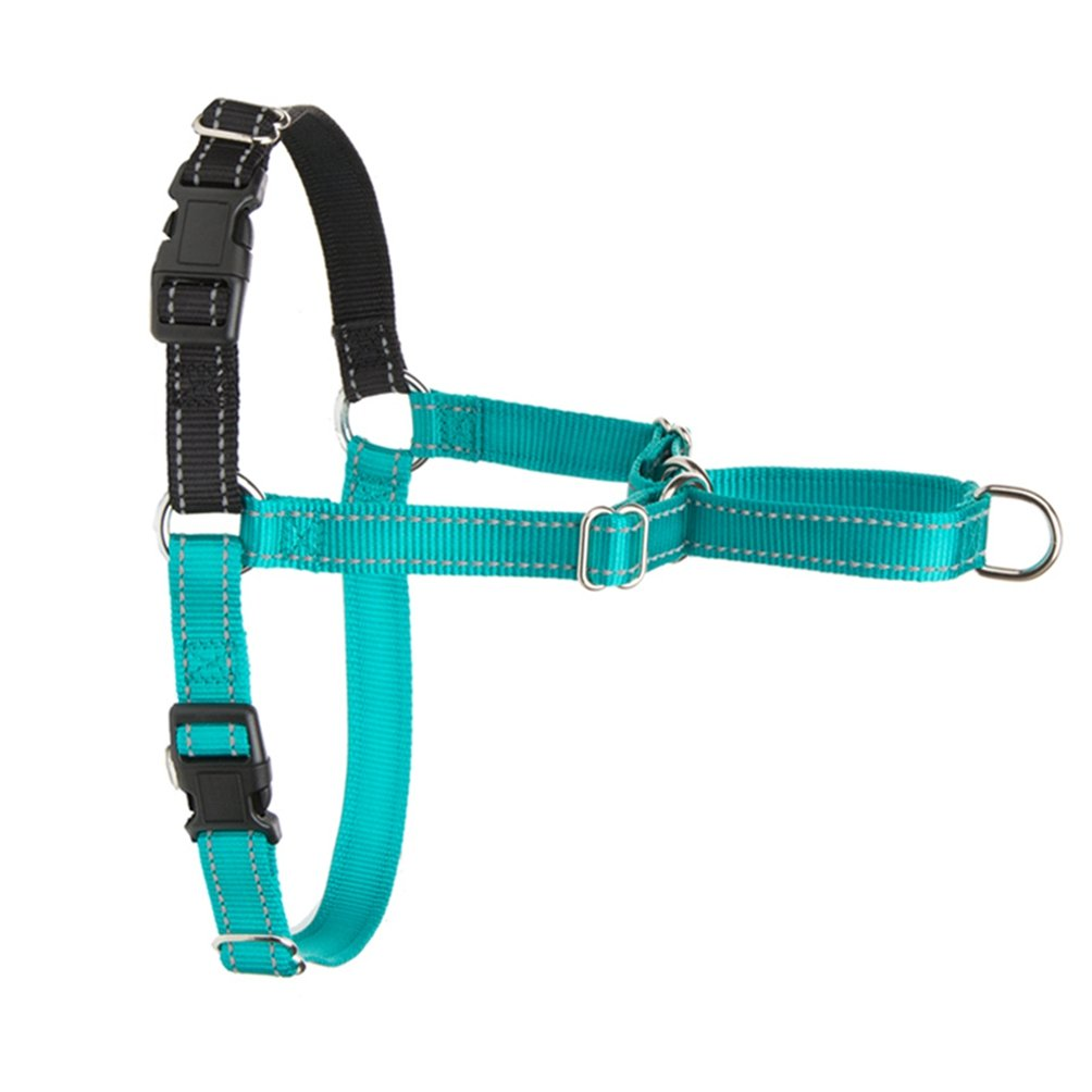bluee L bluee L Jim Hugh Dog Harness Adjustable Nylon Easy Walk Harness Reflective No-Pull Harness Stress-Free Walks Your Pets Suitable Labrador