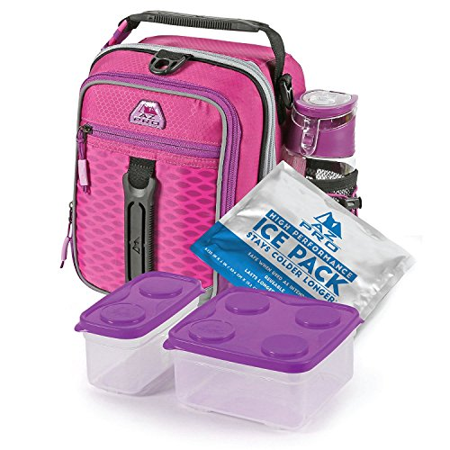 Arctic Zone High-Performance Dual-Compartment Lunch Box Set, Pink/Purple