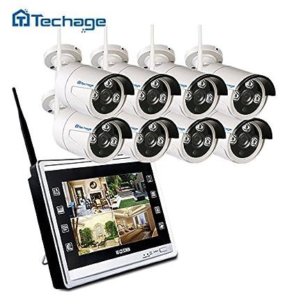 techage WiFi Home Security sistema CCTV Cámara 960p con 11 LCD Monitor 8 canal 1.3