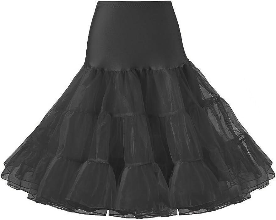 c35e2112f5ec1 Lidory Ridory Womens 1950s Vintage Petticoat Skirts Crinoline Underskirt  Slip Tutu (S