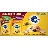 #9: PEDIGREE Choice Cuts Adult Dog Wet Food Variety Pack – with Filet Mignon, Grilled Chicken, Chicken Casserole, and Beef Noodle, 3.5 Ounce Pouches (24-Pack)