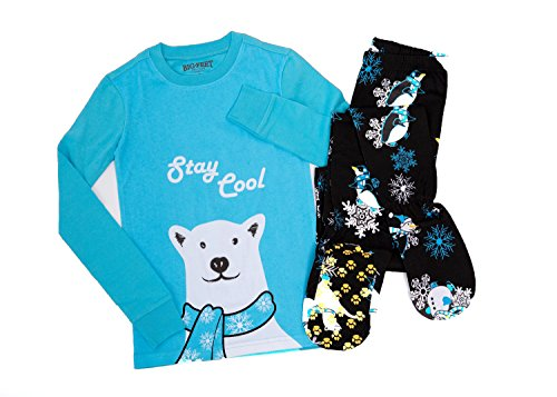Two Piece Footed Pajamas - 2