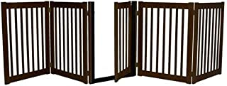 product image for Dynamic Accents Freestanding Walk Through Gate 5 Panel Mahogany