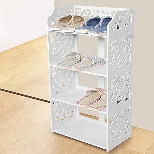 Brackets - 4 Tier Cabinet Rack Box Drawer Storage Wood Plastic Plate Shelf Shoe Organiser White - Brake Stand Horseshoe - 1PCs ()