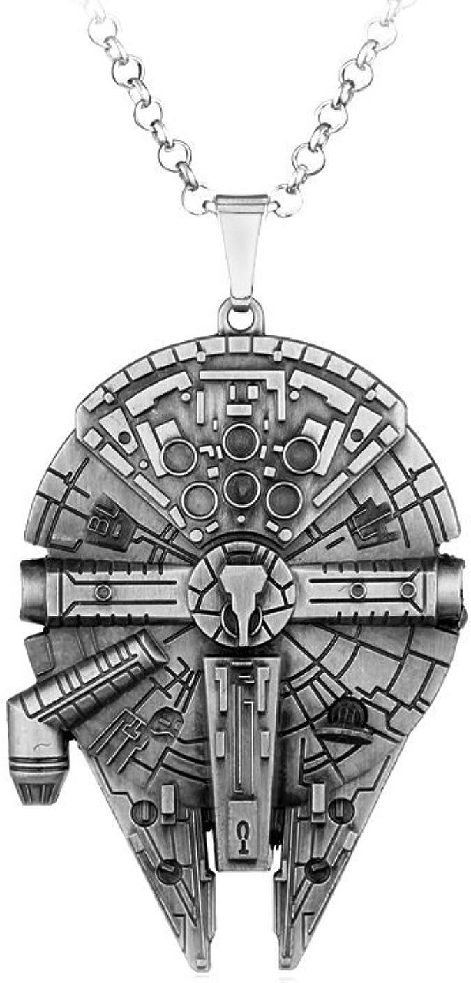 Collana Uomo Star Wars Millenium Falcon in Acciaio Solo Moda