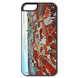 IPhone 5/5S Cases, Prague Cases For IPhone 5 - White/black Hard Plastic