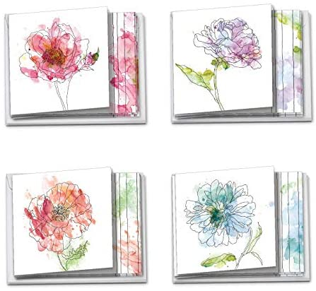 Stationery set blank cards Wildflowers card set Six Floral Note cards