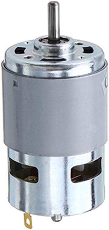 DES 775//795//895 Motor DC 12V Rodamiento de bolas doble Gran par Motor de componentes electr/ónicos Alta potencia Bajo ruido