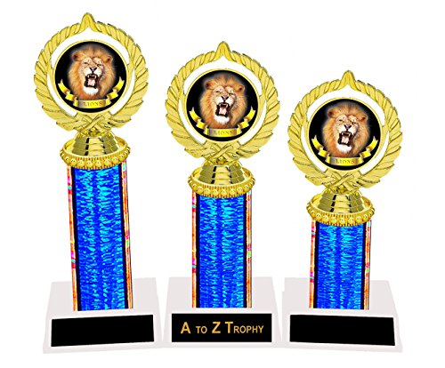 Lion Trophies Awards 1st 2nd 3rd Place Tournament School Sports Mascot Trophy Free Engraving Color Choice