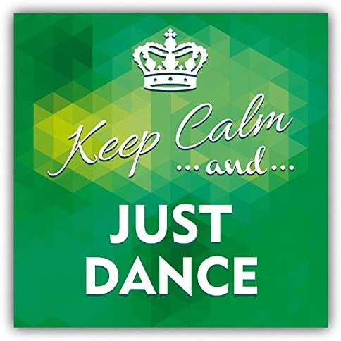 Keep Calm And Just Dance Slogan Alta Calidad De Coche De Parachoques Etiqueta Engomada 12 x 12 cm: Amazon.es: Hogar