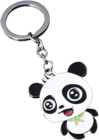 Gespout Trousseau De Dessin Animé Mignon Porte Clés En Forme De Panda Charmes Accessoires Anniversaire Thanksgiving Day Cadeau De Noël Clé