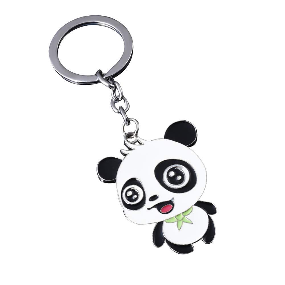 0.2CM Shuda 1 Pcs Porte-cl/és Keychain Creative Mignon Alliage Panda Style Pendentif Porte Clef Sac D/école Sac /À Main D/écoratif pour Hommes Femme Enfants 11 5 Style 1