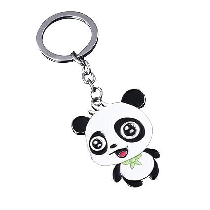 TREESTAR Panda gigante llavero colgante joyería llavero de ...