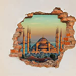 Iconstore Blue Mosque 3d Wall Sticker