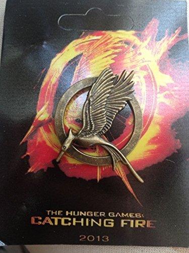 The Hunger Games Katniss Mockingjay Catching Fire Badge Brooch Pin NIB ()