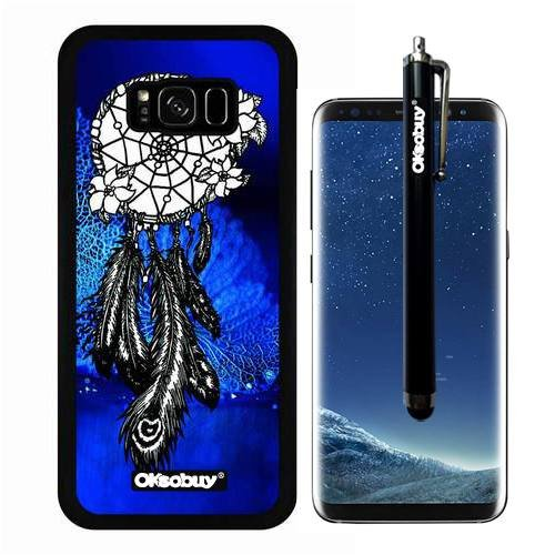Galaxy S8 Plus Case, The Blue Dream Catcher Case, OkSoBuy Ultra Thin Soft Silicone Case for Samsung Galaxy S8 Plus - The Blue Dream - Lenses Are Good What Yellow For