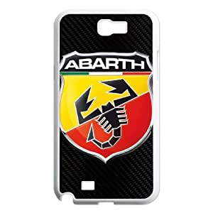 Fashion mobile phone carrying cases Hot Fashion Design Cases Covers Sanp On,abarth logo,TPU Phone case for SamSung Galaxy Note2 7100,white