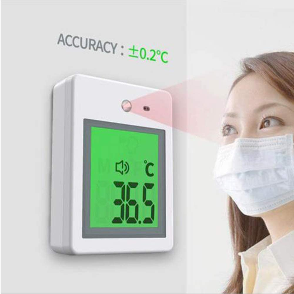 MAYWU Thermometer 1S Quick Test Non-Contact Type Intelligent Voice high Temperature Alarm of Electronic Thermometer Wall-Mounted Infrared Thermometer
