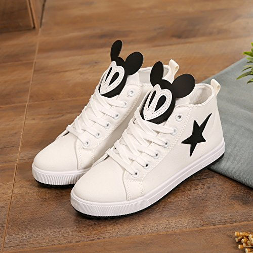 Zapatos Zapatos de Tablero de Gang Zapatos de de de de Alta de Mujer Tablero Ocio Zapatos de Zapatos mujer Primavera GTVERNH Verano negro Zapatos Zapatos Tablero lona v0p1q