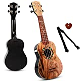 SAOCOOL Ukulele Guitar for Kids, 21 inch Ukulele Guitar Kids Guitar Toy, 4 String Child Guitar Toys for Girls and Boys
