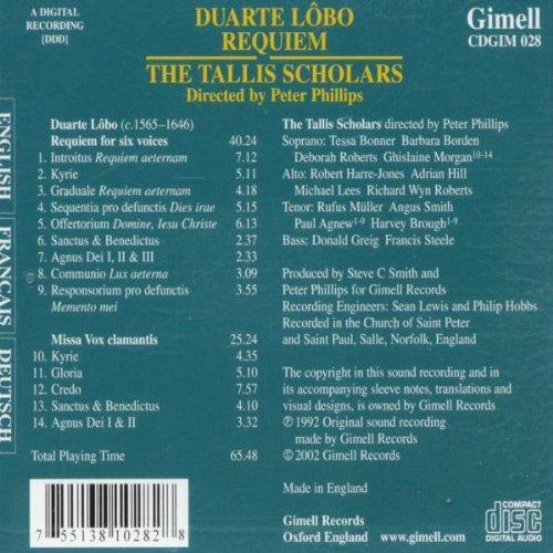 Lôbo: Requiem for Six Voices; Missa Vox Clamantis