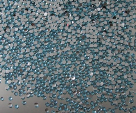 2,500pcs Flatback Resin Rhinestones Round 2mm Perfect for Nails Art – Aqua Blue By Pixiheart