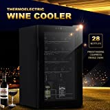 GTM Freestanding Compress Fridge Cabin Thermoelectric Wine Cooler for 28 Bottles