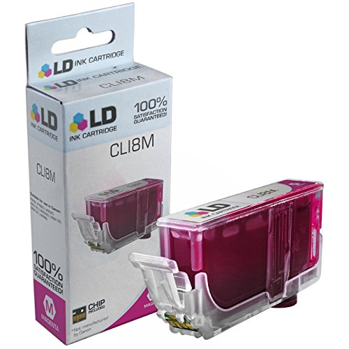 LD Compatible Replacement for Canon CLI8 Magenta (0622B002) Magenta Ink Cartridge for use in Canon PIXMA iP4500, iP6600D, iP6700D, iP4300, Pro 9000 Mark II, MP970, Pro 9000, MP800, MP960, & More (Canon Pro Ink 9000 Ii)